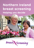 Breast cancer screening leaflet front cover