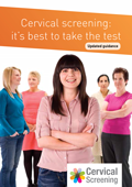 Cervical cancer screening leaflet front cover