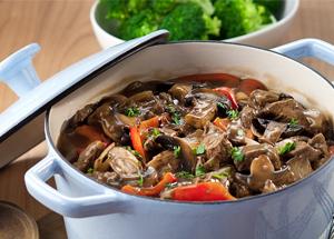 Vegatarian meal in a casserole dish